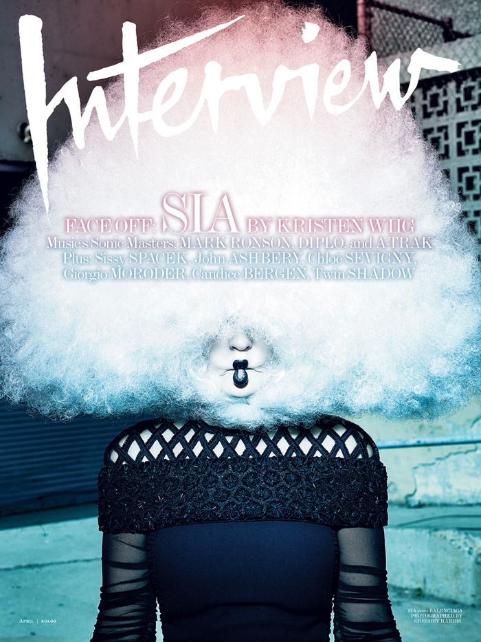 Sia by Gregory Harris for Interview Magazine April 2015