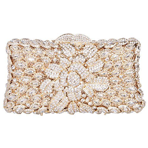 Bonjanvye Bling Rhinestones Evening Purses For Womens Clutch Bags multicolore PGnBcvgHw