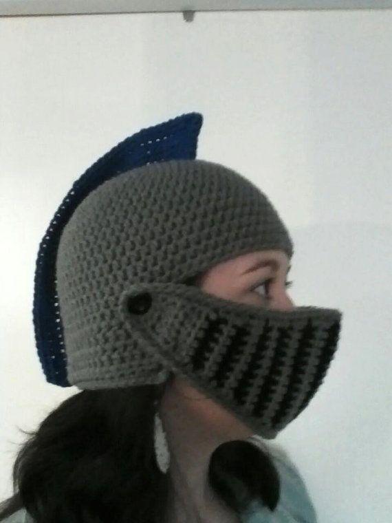 Crochet Knight Helmet by HammondsHandcrafts on Etsy, $30 ...
