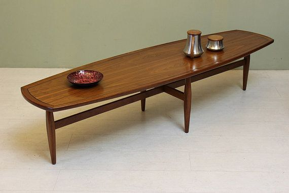 Vintage 1960s Surfboard Coffee Table Declaration By By Dejavulb