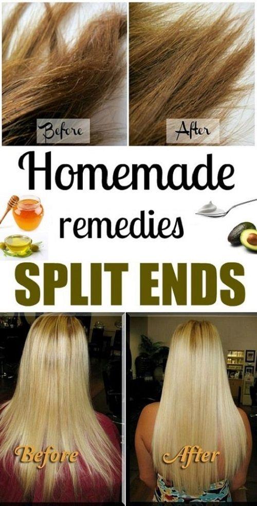 home remedies for split hair