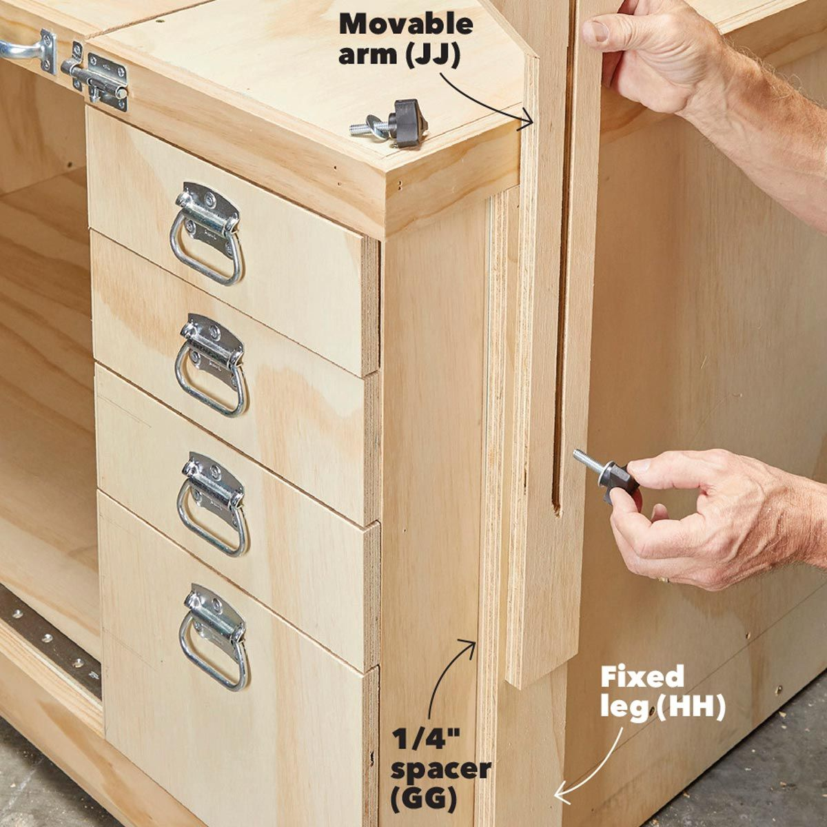 How to Build a Space-Saving Flip-Top Workbench | Things That Are