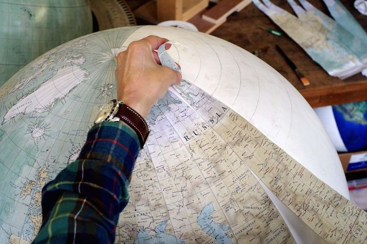 One of the worlds only globe making studios celebrates the one of the worlds only globe making studios celebrates the ancient art of handcrafted globes gumiabroncs Image collections