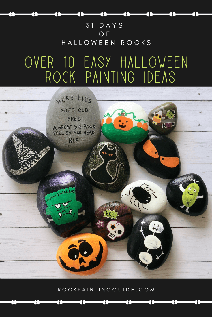 Try these Fun Halloween Rock Painting ideas for Kids is part of Painted rocks kids, Halloween rocks, Painted rocks, Painting for kids, Rock painting ideas easy, Rock decor - Do you have little ones who love to paint  Try these super easy Halloween Rock Painting ideas for kids crafts  Learn rock painting 101 tips!