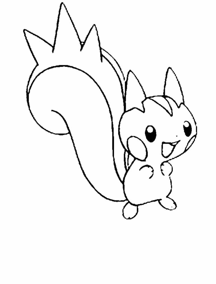 Pachirisu Is A Great Pokemon Coloring Pages  Coloring Pages