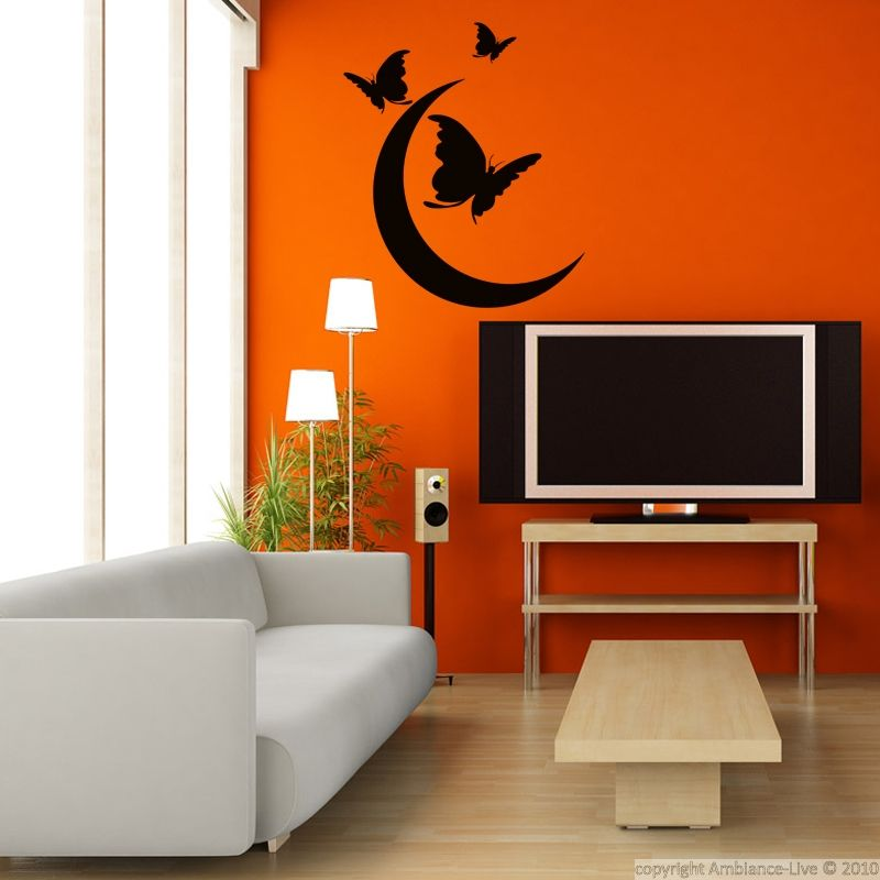 Ambiance Wall Stickers stickers muraux animaux - sticker papillons et lune | ambiance