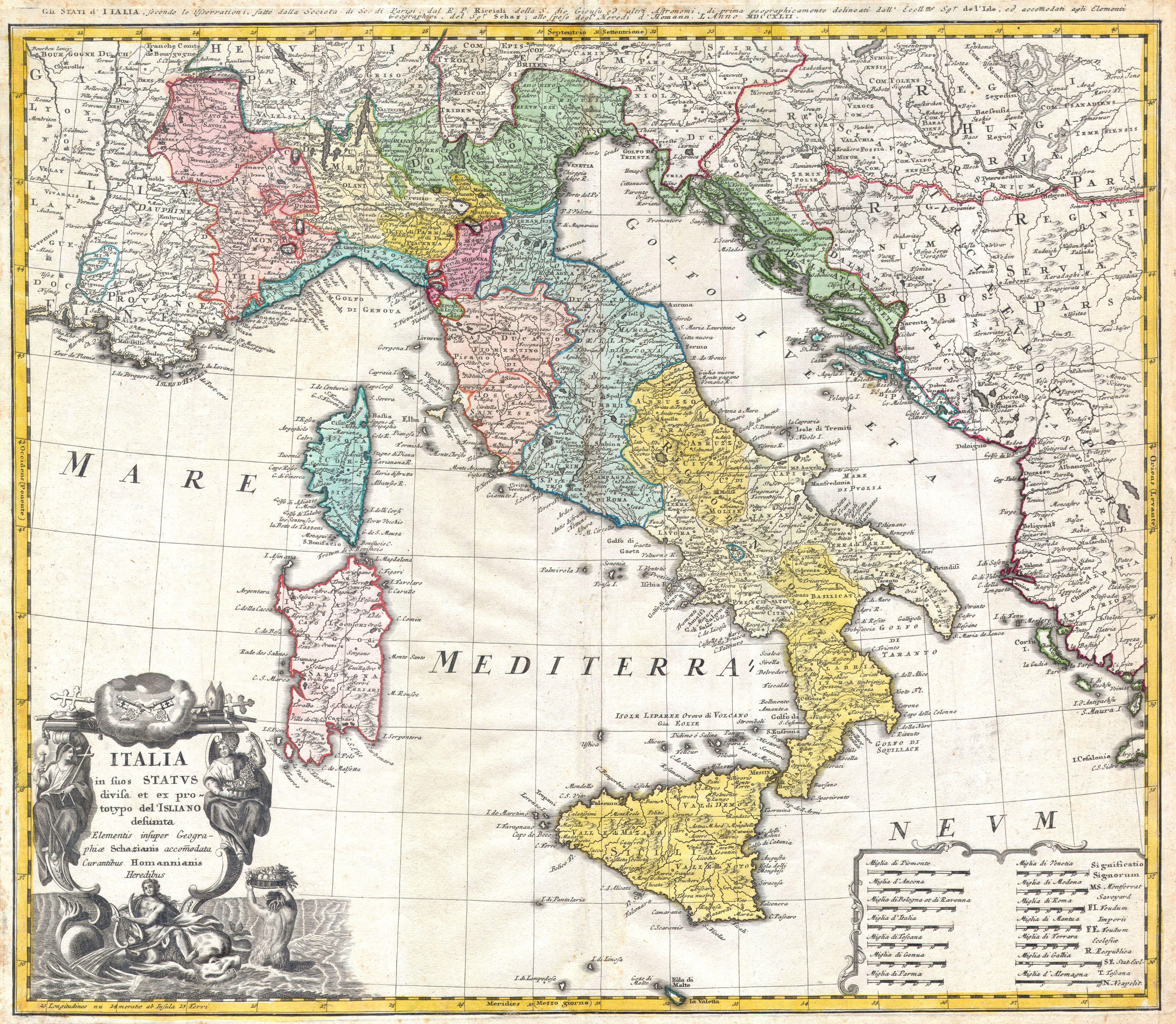 1742_Homann_Heirs_Map_of_Italy__Geographicus__Italia
