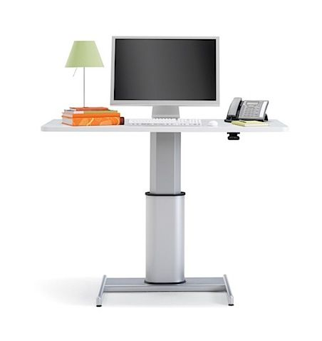 Another Cool Sitting / Standing Desk From Steelcase.
