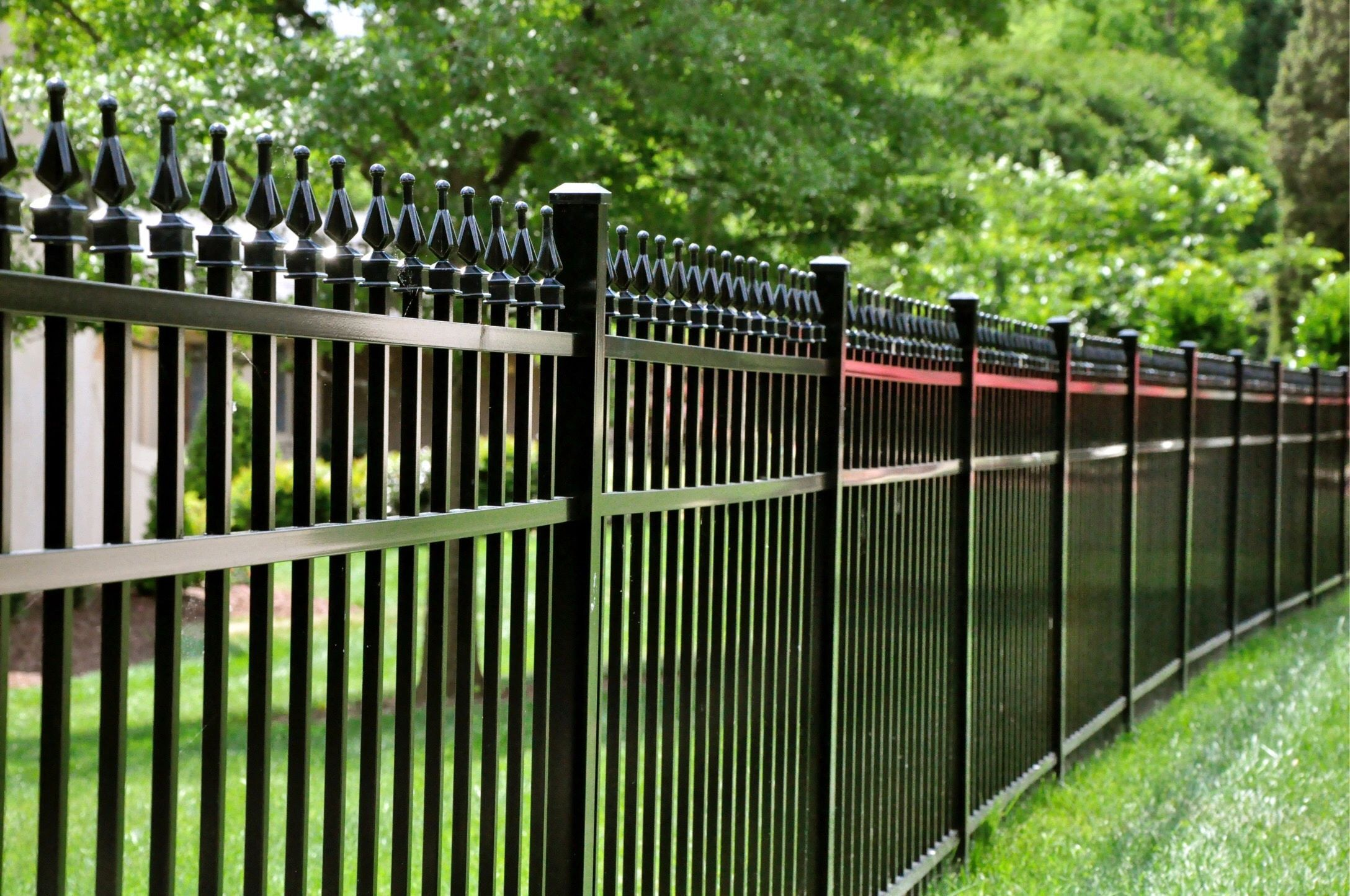 Aluminum Vinyl Wood Chain Link Driveway Gates Privacy Picket Rail Gate Operators Residential Commercial In Aluminum Fence Fence Builders Fence Design
