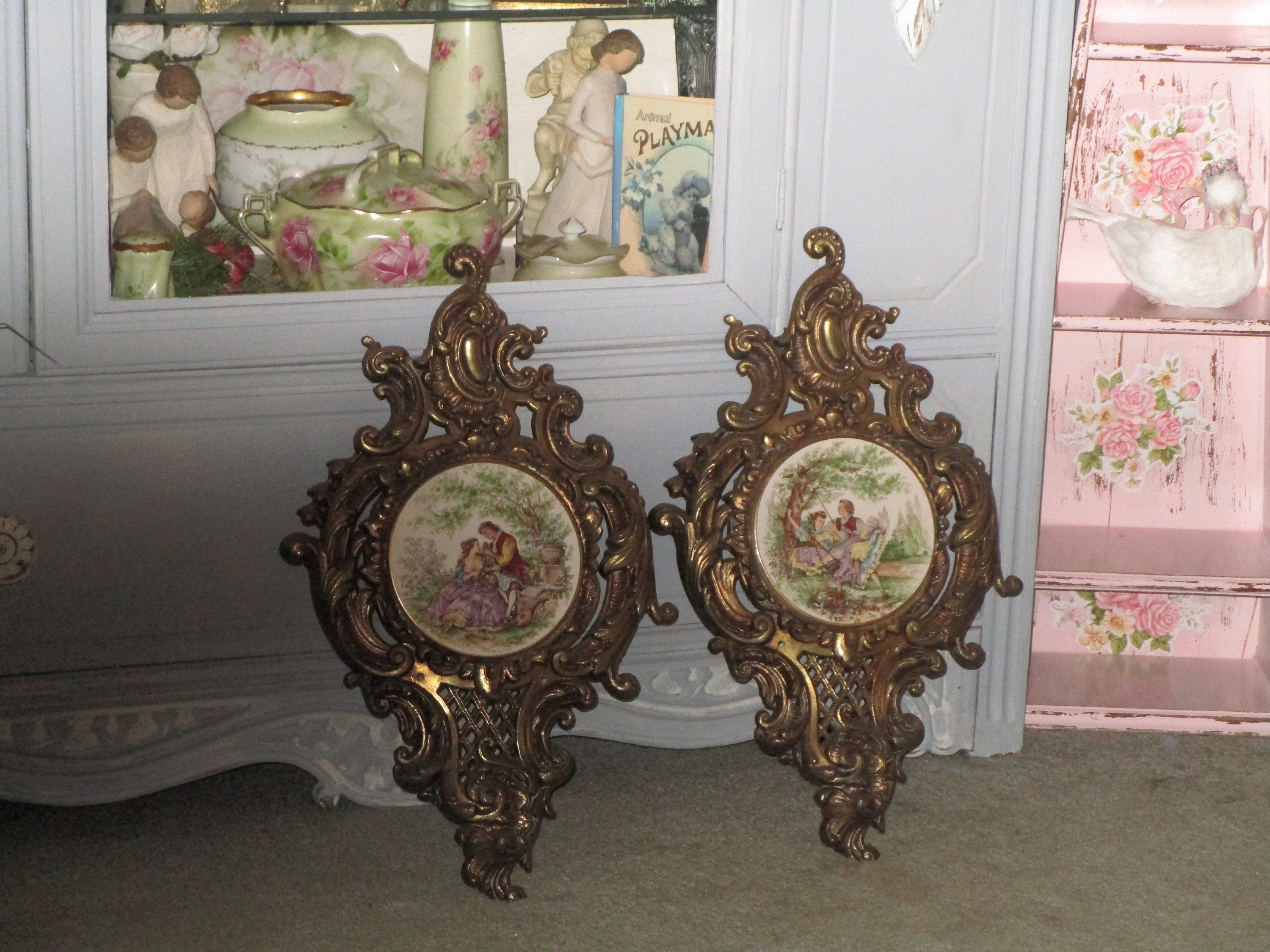 Reduced French Victorian Baroque Wall Decor Heavy Metal Etsy Antique Wall Decor Victorian Wall Decor Wall Decor