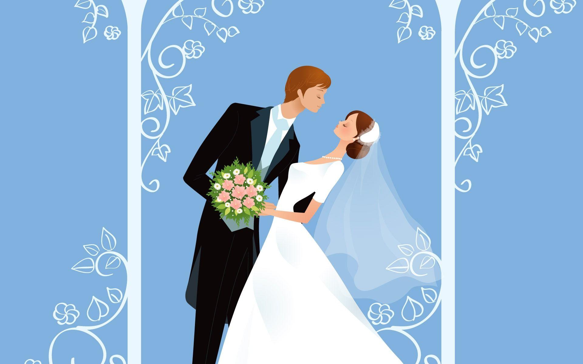 Открытки с изображением жениха и невесты
