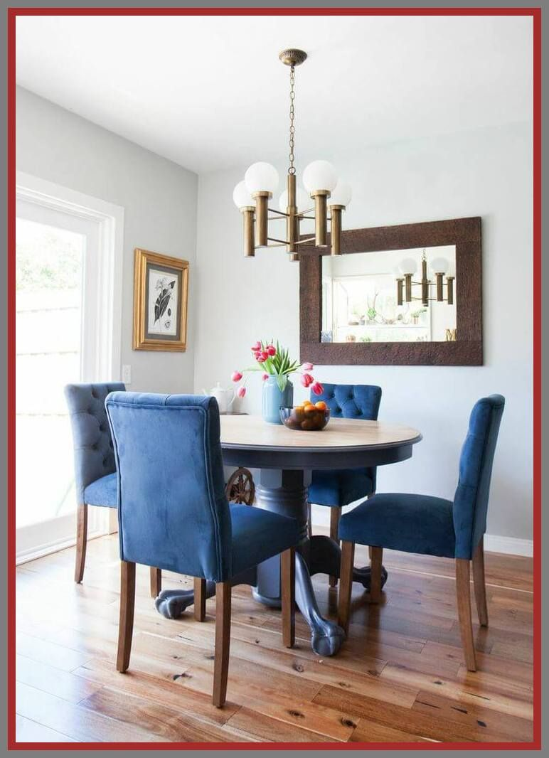 96 Reference Of Dining Room Set With Royal Blue Chairs In 2020 Dining Room Blue Blue Dining Chair Home Decor