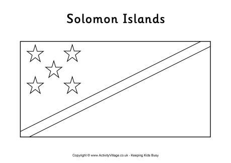 Solomon Islands Flag Colouring Page Flag Coloring Pages Solomon