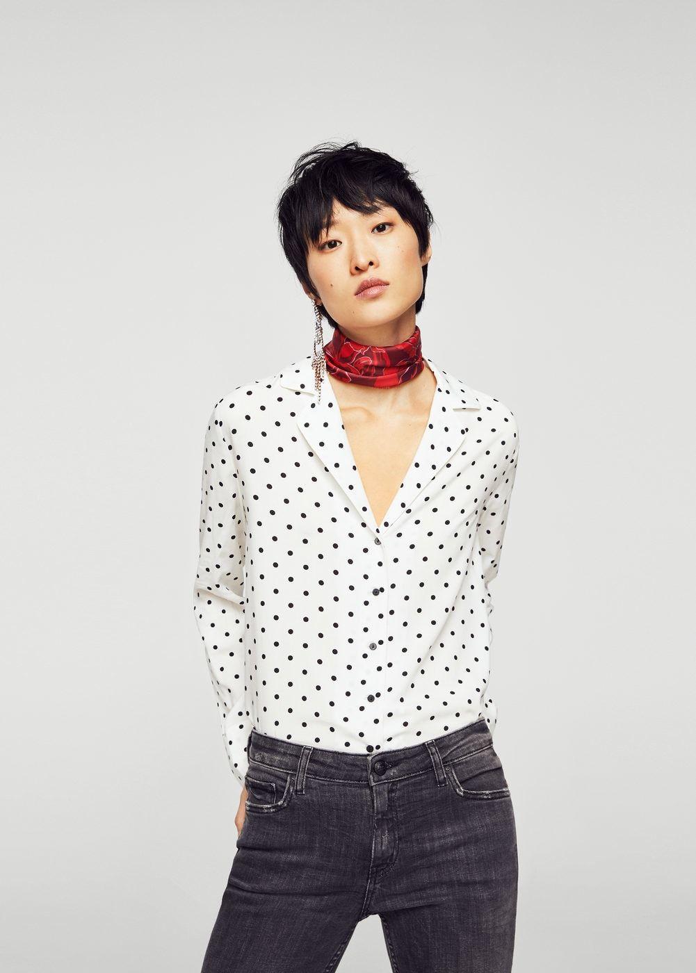 f50f87f7eff7e7 Buttoned flowy shirt - Women in 2019 | Wardrobe | Shirts, Blouse ...