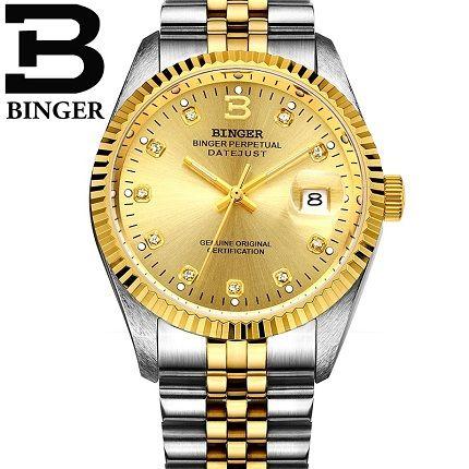đồng hồ đôi mạ vàng binger