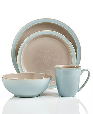 Denby Dinnerware Duets Taupe and Blue 4 Piece Place Setting - Casual Dinnerware - Dining  sc 1 st  Pinterest & Denby Dinnerware Duets Taupe and Blue 4 Piece Place Setting ...