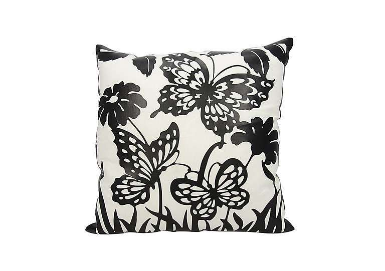 Beautiful Furniture Village Butterfly Garden Cushion Stylish Monochrome Cushion With  Stylised Butterflies Design Black And White Design Suits Contemporary  Deacute