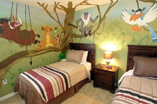 Perfect Lion King Themed Vacation Home Bedroom In Orlando, FL