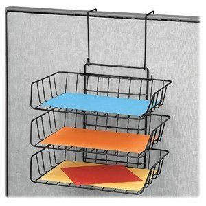 office cubicle hanging shelves. Hang A Wire Paper Tray On Your Cubicle Wall - CubicleBliss.com Office Hanging Shelves