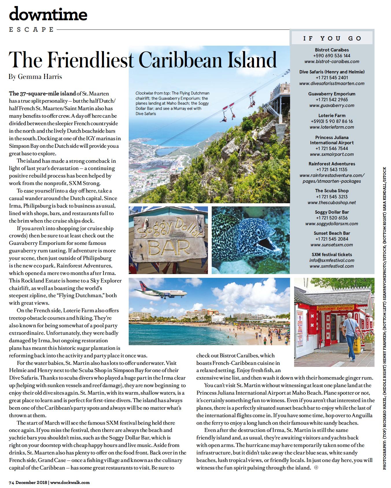 December 2018 Downtime St Maarten Saint Martin Caribbean Islands Saint Martin Island