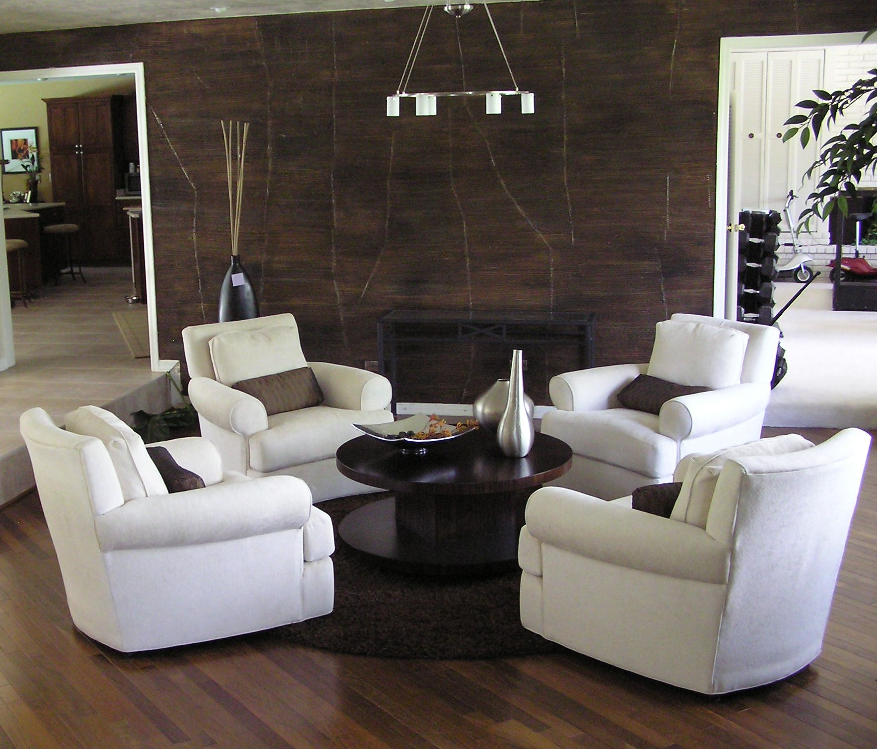 Cool Dark Hardwood Floors And White Walls  House Floor Plans Awesome Wooden Floor Living Room Designs Inspiration Design