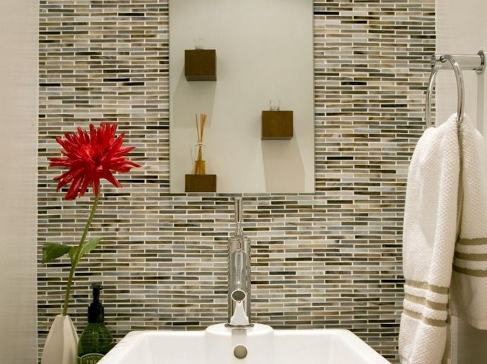 Decorative Tiles For Bathroom Decorative Glass Tile For Small Bathroom Backsplash Ideas