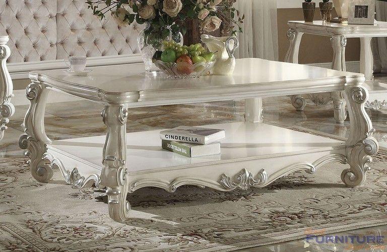 Best Acme Furniture Versailles Bone White Coffee Table 400 x 300