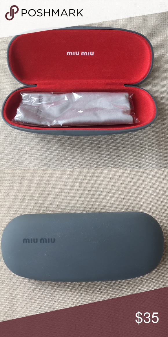 febadfff5988 Miu Miu Optical Sunglasses Case Perfect case for eyeglasses or small  sunglasses. Cleaning cloth included. Price firm No trades Miu Miu  Accessories ...