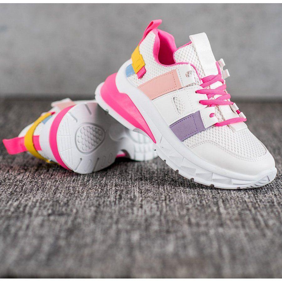 Seastar Kolorowe Sneakersy Z Siateczka Biale Wielokolorowe Bayan Ayakkabi Ayakkabilar Spor