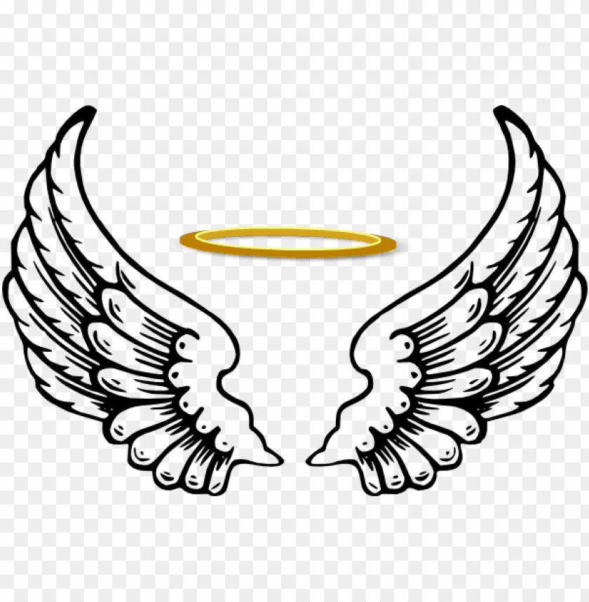 Angel Wings With Halo Angel Halo Wing Png Image With Transparent Background Png Free Png Images Halo Drawings Angle Wings Drawing Wings Drawing