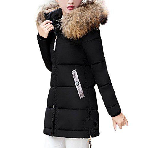 Women Coat Parka Slim Flingdress Warm Padded Down Hooded Winter vdP4w7x