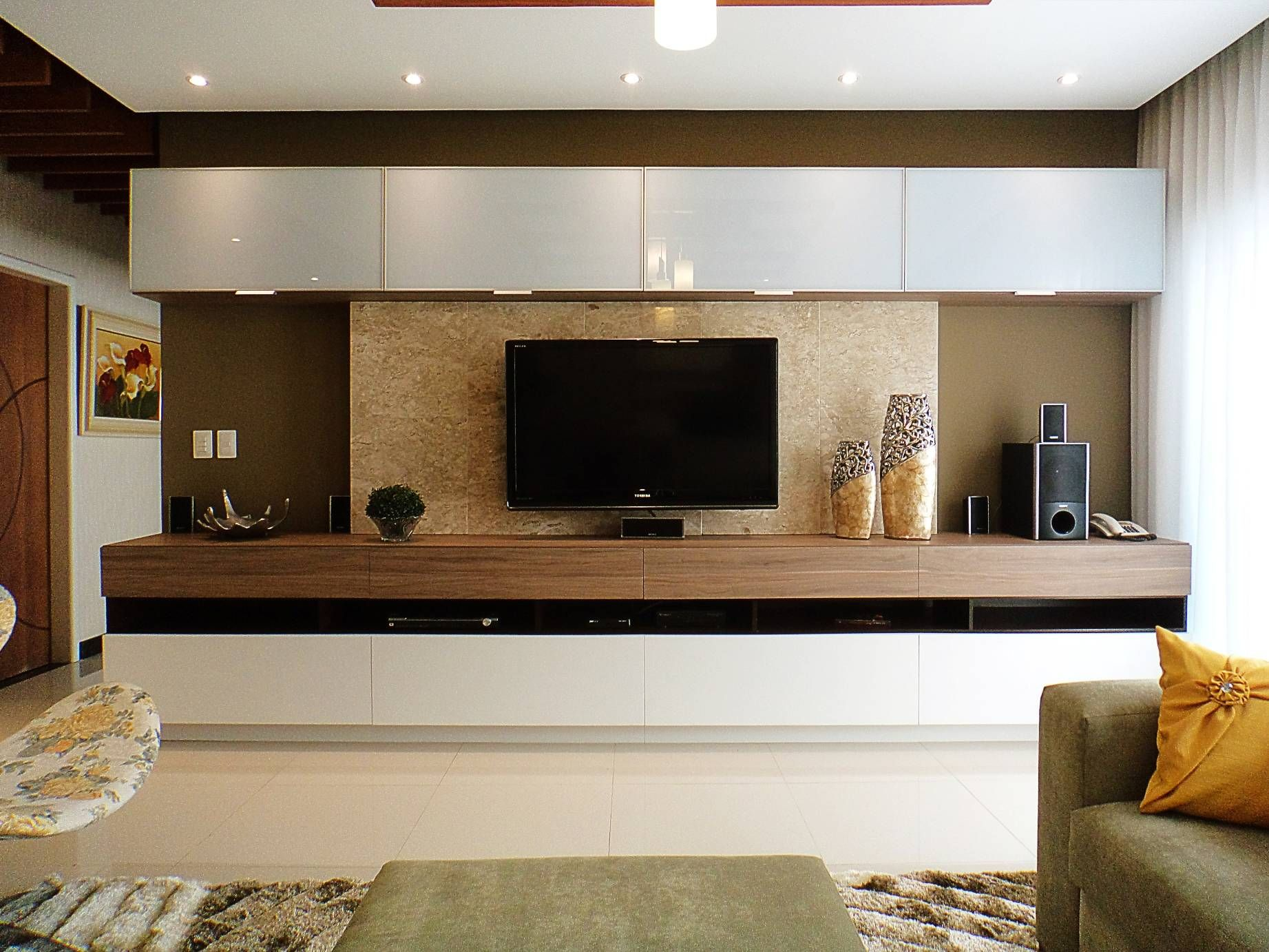 1000+ images about Tv ünitesi-tv wall fireplace on Pinterest