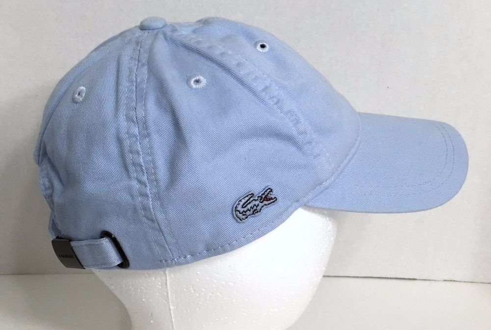 6ed48fee Lacoste Vintage Wash Hat Cap Croc Logo on Side Blue Atmosphere RK401951 One  Size #Lacoste #BaseballCap