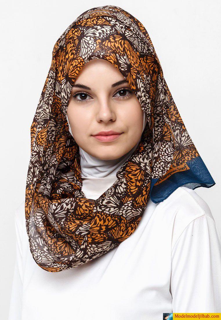 Jilbab Motif Zigzag Warna Biru Hijab Art Pinterest