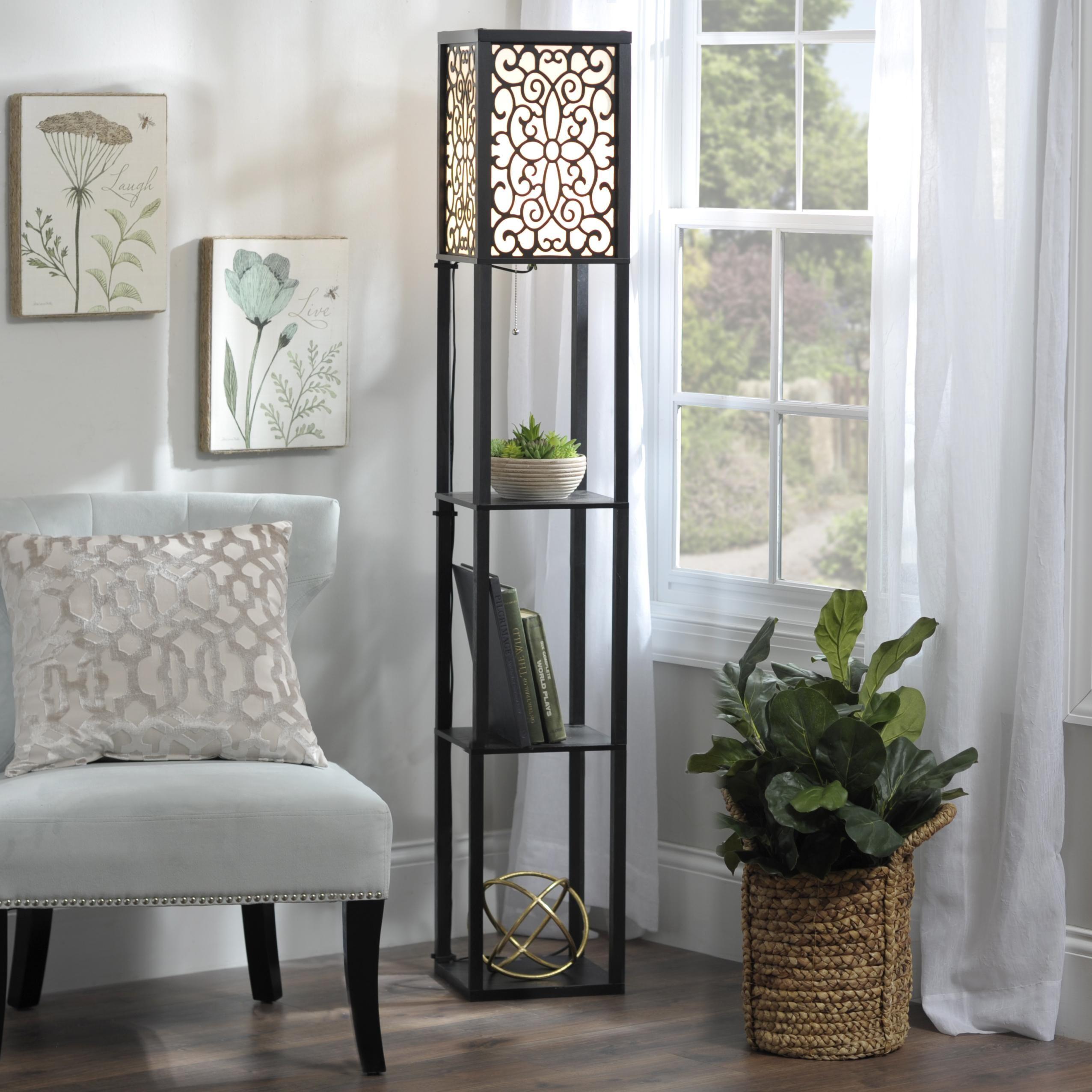 Wallace Shelf Floor Lamp Floor Lamps Living Room Unique Floor Lamps Floor Lamp With Shelves #unique #floor #lamps #for #living #room