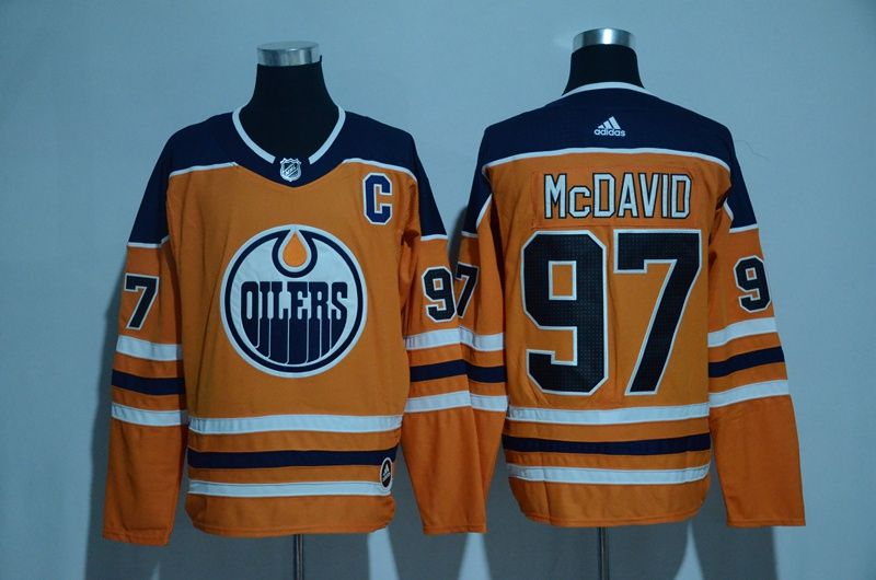 new arrivals 01f76 b7a81 Adidas Men's Edmonton Oilers #97 Connor McDavid Orange C ...