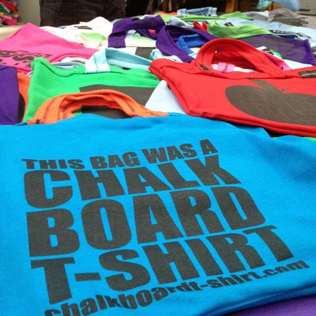 This #bag was a #chalkboard #tshirt. #crafty