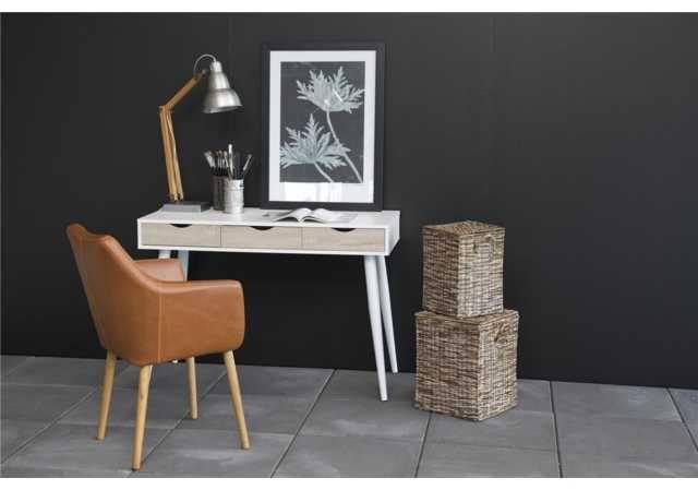 ≥ bureau licht hout met wit overige huis en inrichting
