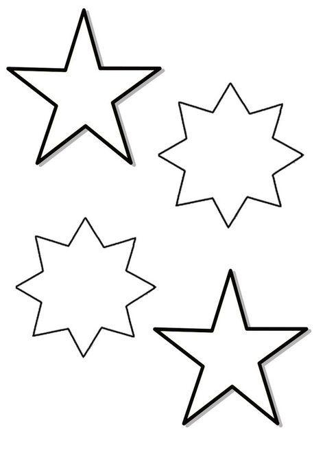 Patron étoiles De Noël à Imprimer Etoile De Noel Deco