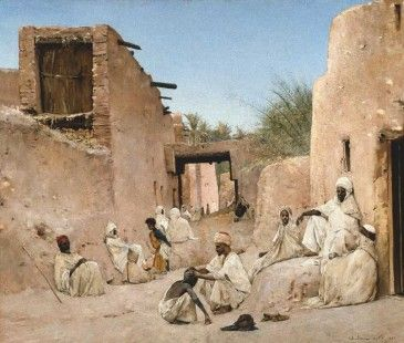 Maurice Bompard. The way to the Chetma oasis. Musée des Beaux-Arts, Marseille. Photography: Jean Bernard.