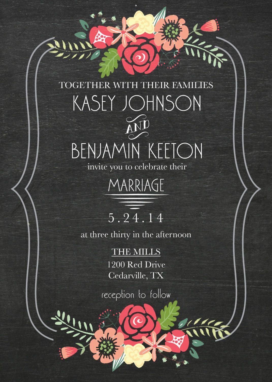 Wedding Invitation DIY Printable by KristianRatnamDesign on Etsy
