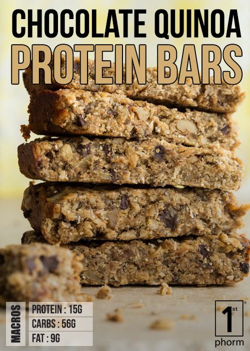 Click For Our Chocolate Quinoa Protein Bar Recipe Http 1stphorm Com 1st Phorm Chocolate Quinoa Pro Chocolate Chip Recipes How Sweet Eats Protein Bar Recipes