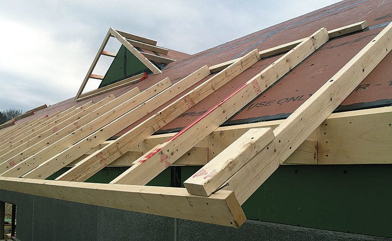 Applied Eaves Make An Airtight Hot Roof Work Roof Sheathing Roof Architecture Pergola With Roof