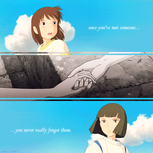 Spirited Away quote, a...