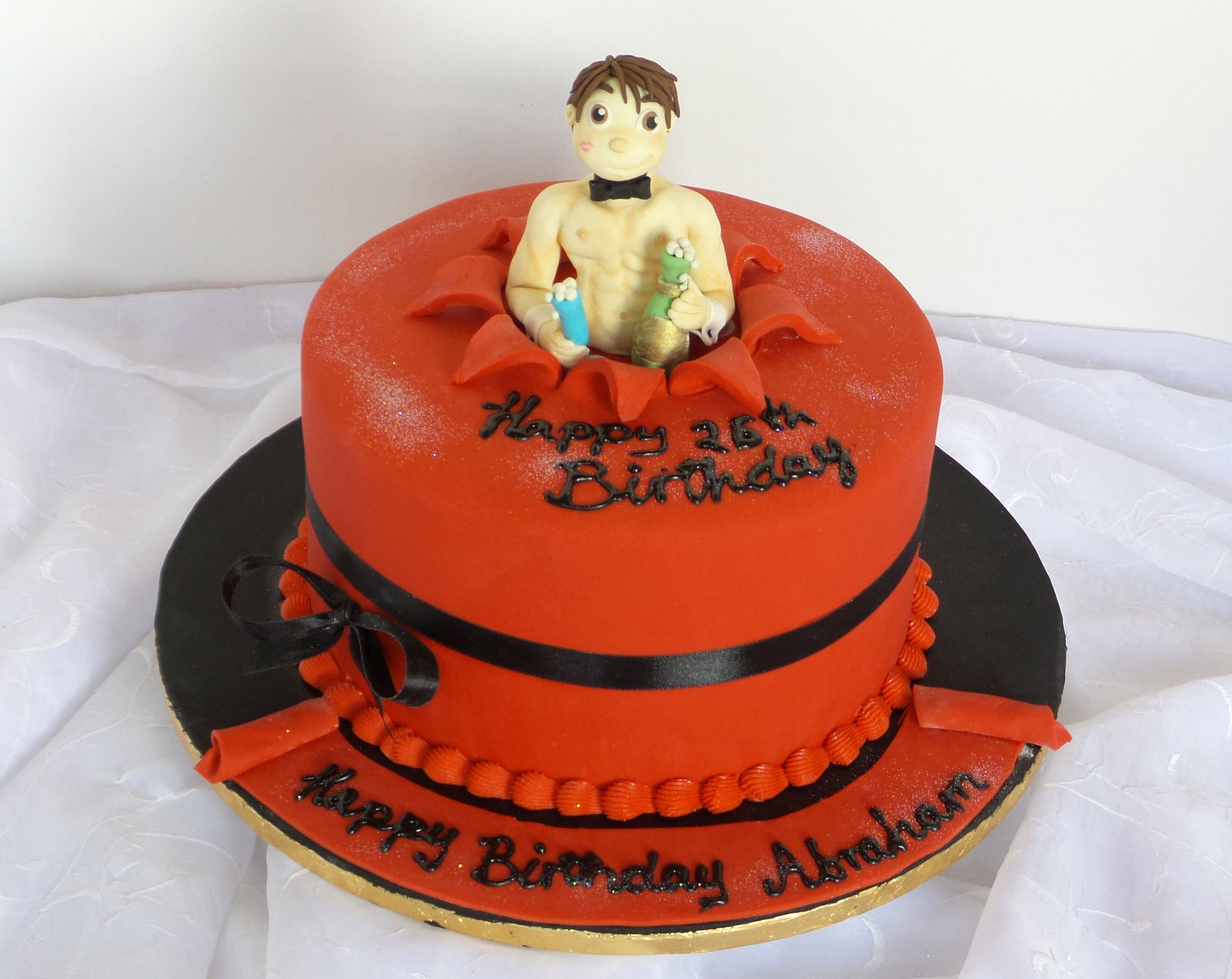 HttpsflickrpEduMF Sexy Shirtless Guy Fondant Topper - Birthday cake for a guy