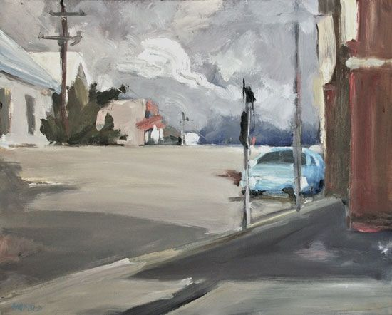 Jane Canfield Parke Street, Late Summer Storm Oil on linen. Size: 76cm x 61cm