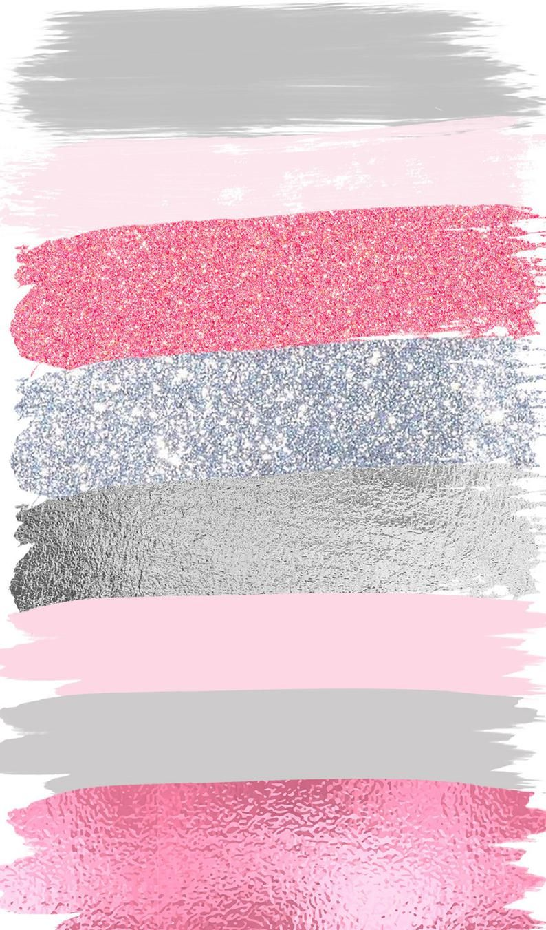 Pink Gray Brush Strokes Clip Art #27 Hand Painted Pink Glitter Foil Confetti Clipart | Graphic Elements| Digital Design 26 PNG Images
