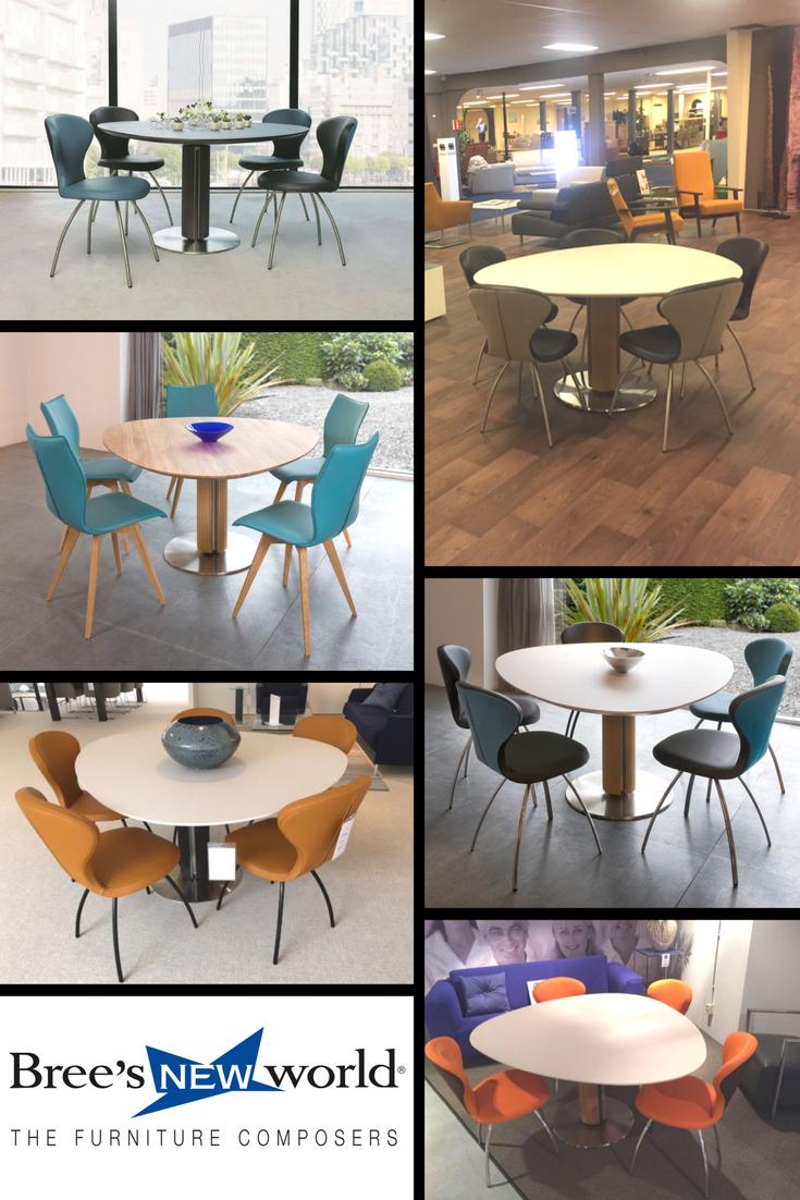 Design Tafel Meubels.De Volledig Asymmetrische Eettafel Steely Uniek Design Van Peter