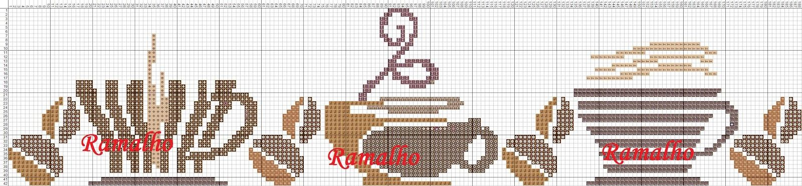 Ramalho C: Barrinha eu amo café | ponto cruz | Pinterest ...