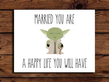 Geeky Star Wars Wedding Invites
